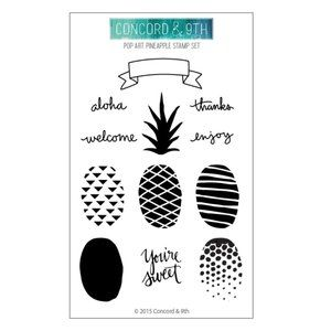 NWT Paper Source Concord & 9th Pineapple Stamp Set